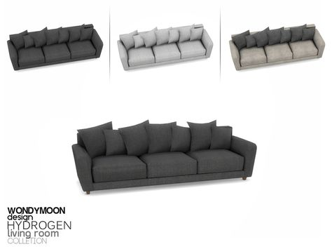 - Hydrogen Living - Sofa Found in TSR Category 'Sims 4 Sofas & Recliners' Living Room Sims 4, Sims 4 Cc Furniture Living Rooms, Sims 4 Bedroom, Bedrooms, The Sims 4 Pc, Sims Cc, Sims 4 Beds, Muebles Sims 4 Cc, Sims 4 Kitchen