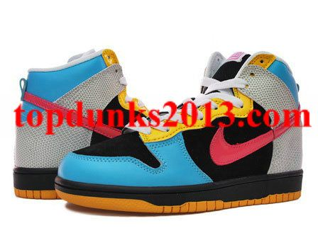 Buy Black Blue Yellow Pink Nike 6.0 Dunk High Girls | Nikes | Pinterest | Pink  nikes, Blue yellow and High shoes