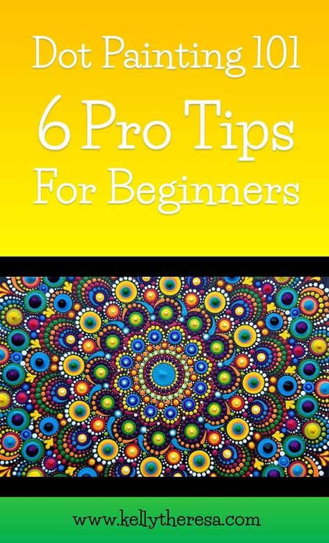 With the abundance of beautiful images and videos online it's difficult to know where to really begin when you want to learn how to dot paint from the ground up. Look no further, here are 6 pro tips for anyone wanting to learn how to dot paint. Dot Painting Tools, Rock Painting Patterns, Dot Art Painting, Rock Painting Designs, Mandala Painting, Paint Designs, Stone Painting, Pattern Painting, Mandala Drawing