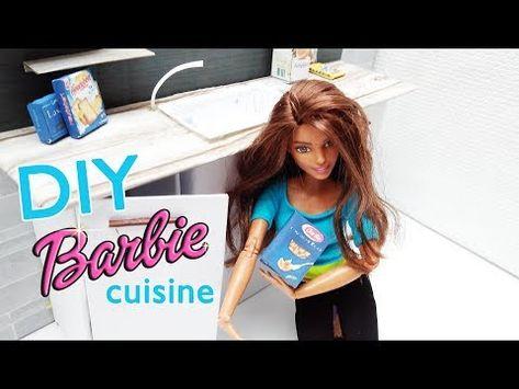 Tuto Cuisine Miniature Diy Fabriquer Meuble Pour Barbie