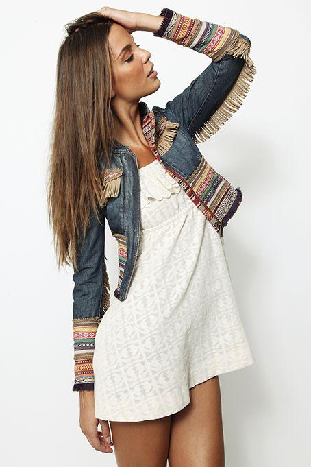 Love this cute little Boho flare jacket