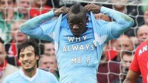 Balotelli goal celebration why always me — photo 2