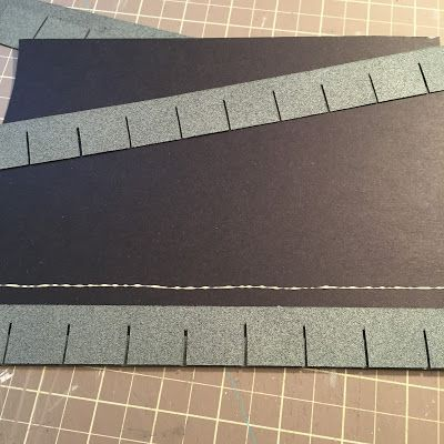 I Started With Sheets Of Black Poster Board Then Realized Buying A Stack Of 8 1 X2f 2 Quot X 11 Quot Black Card House Roof Shingles Roof Shingles House Roof