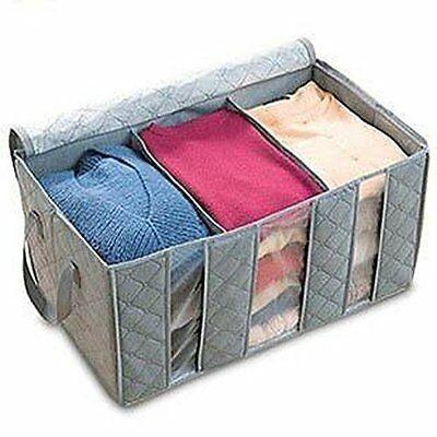 Clear Clothes Quilt Blanket Storage Bag Organizer Foldable Zipper Box 2 Sizes
