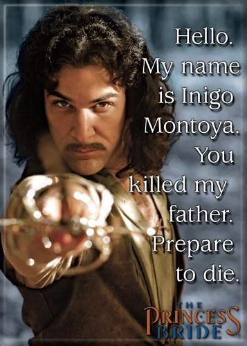 Magnet: The Princess Bride - My Name is Inigo Montoya