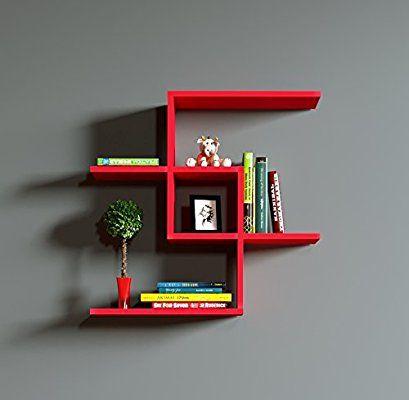 12 Repisas de madera para libros
