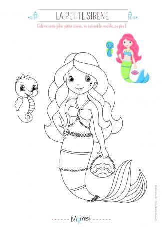 Coloriage Petite Sirene Cahier De Coloriage Coloriage Sirene Et