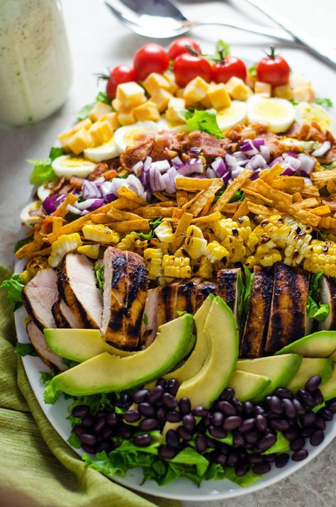 Southwestern Cobb Salad with Jalapeño Buttermilk Ranch. A spiced-up twist on the…