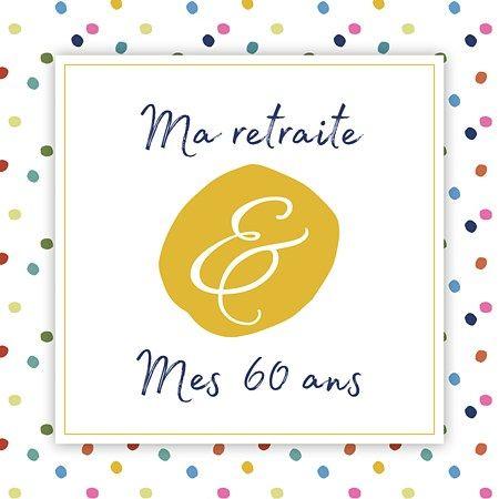 carte invitation retraite 60 ans 60ans #anniversaire Esperluette | Carte invitation, Carte