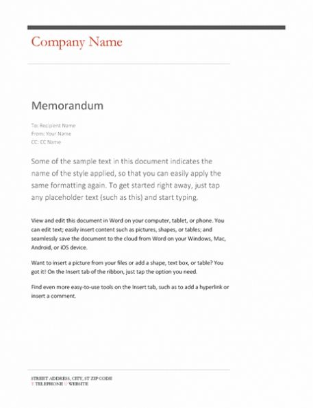 Memo Template Word 2013 In 2021 Memo Template Templates Memo Format
