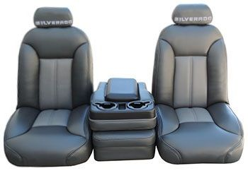 The Super Deluxe Silverado High Back Truck Seats Are Constructed In Oem Thin Back Design To Allow Installat Chevy Trucks Silverado Truck Custom Chevy Trucks