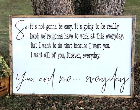 The Notebook Quote Bedroom Decor So It's Not Gonna Be