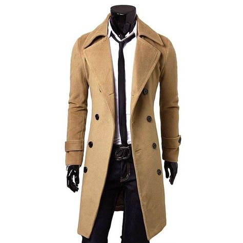 Winter Trench Coat, Double Breasted Trench Coat, Long Trench Coat, Mens Rain Trench Coat, Winter Coats, Herren Winter, Mens Winter, Fall Winter, Winter Style