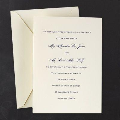 Clic Ecru Invitation This Plain Wedding Comes