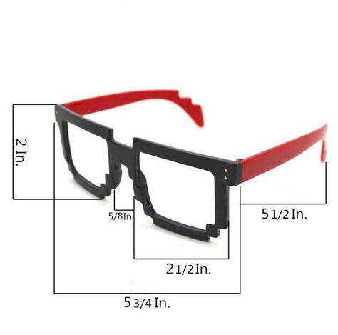 58321a1b99 Cool Fun Party Style Fashion 8 Bit Pixel Glasses Frame Eyewear ...