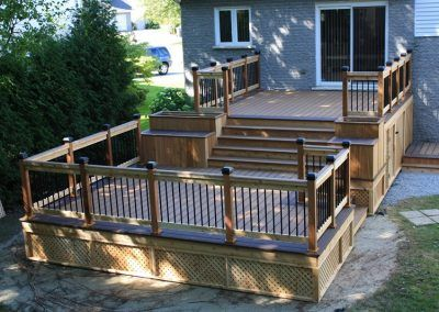 Patiodex Modele Design Trex Bois Traite Cedre Rouge 474 Deck Designs Backyard Patio Design Decks Backyard