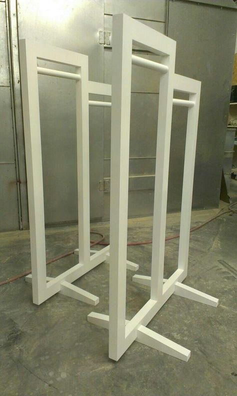 clothing racks #retaildetails. could also make a small stand with picture frames