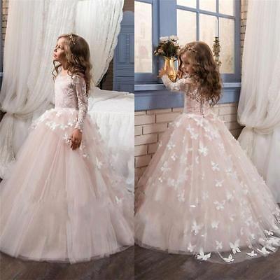 Blumenmädchen Kinder Kleid Ballkleid Kommunion Prinzessin Mädchen Partykleid
