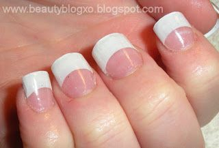 Drop Dead, Gorgeous: DIY: Acrylic Nails At Home - French Tips