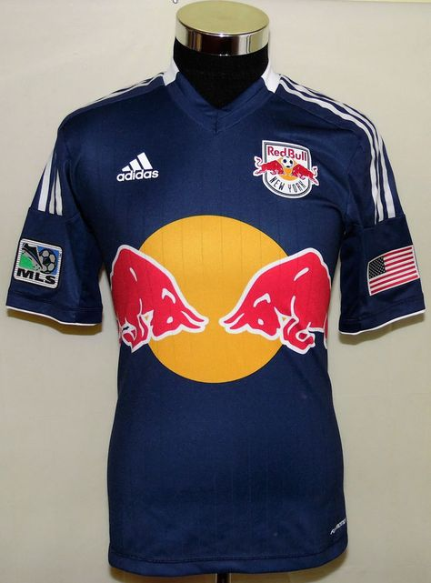 the latest 9fd53 41e1a adidas Red Bull New York MLS USA Soccer Team Climacool Formotion Jersey  Size Sm  adidas  USA