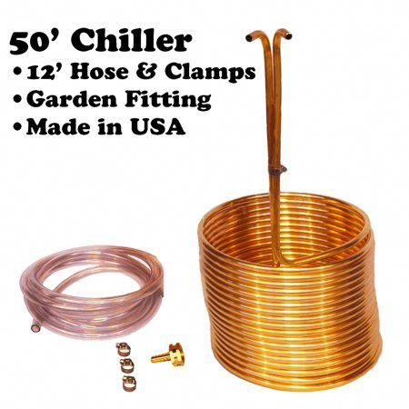 26 Copper Immersion Wort Chiller Cooler Elevated Coil Kit Home