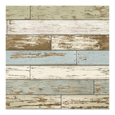 Nuwallpaper Old Salem Vintage Wood Peel Stick Wallpaper Walmart Com Distressed Wood Wallpaper How To Distress Wood Wood Wallpaper