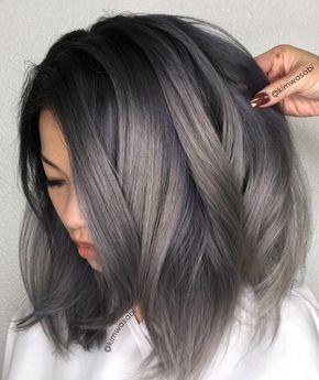 12 6k Likes 56 Comments Da Hair Beauty Mens Styles Allabout Dahair On Instagram Smoke Bomb Kimwasabi Grey Hair Color Charcoal Hair Short Hair Balayage