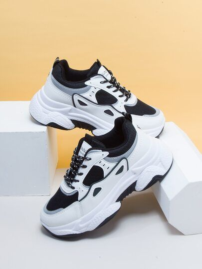 Lace Up Front Chunky Sneakers Chunky Sneakers Sneakers Lace Up