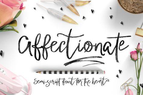 Digital Font Affectionate Brush Script Font by creativequbedesign