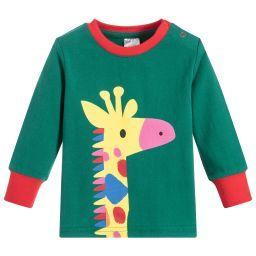 Blade Rose Green Cotton Giraffe T Shirt Childrensalon Blade And Rose Green Cotton Top Baby Products