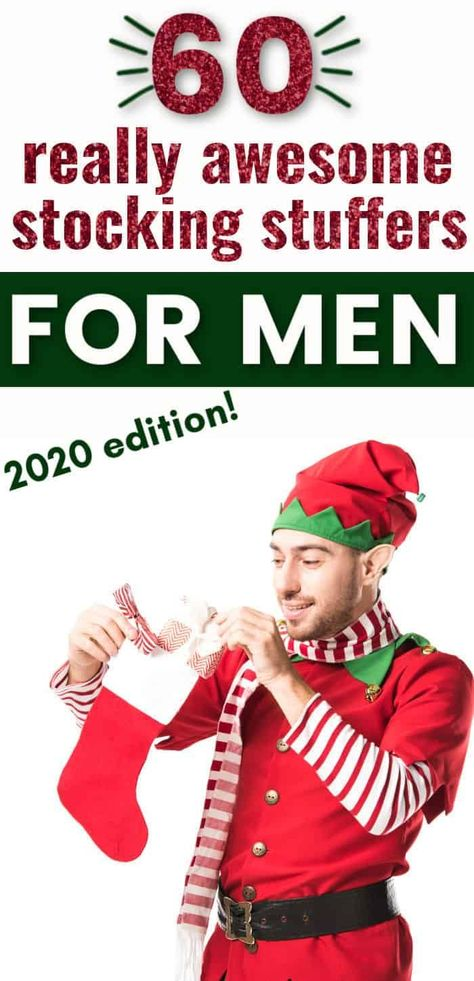 What to put in a guy's stocking for Christmas. Here are 60 amazing stocking stuffer ideas for men, If you are looking for stocking stuffers for your husband or boyfriend, look no further than this amazing list of the best stocking fillers you can buy, many from Amazon! Christmas Ideas For Boyfriend, Gifts For New Dads, Christmas Gifts For Boyfriend, Christmas Gift Guide, Best Christmas Gifts, Boyfriend Gifts, Present Ideas For Men, Christmas Ideas For Husband, Amazon Christmas
