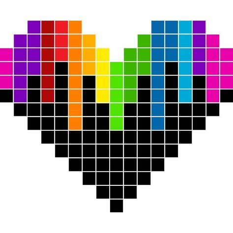 Pixel Art Coeur Graph Paper Art Graph Paper Drawings