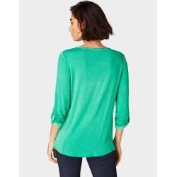 Tom Tailor women's long-sleeved shirt in used look, green, plain-colored, size xxl Tom TailorTom Tailor#colored #green #longsleeved #plain #plaincolored #shirt #size #sleeved #tailor #tailortom #tom #women #womens #xxl