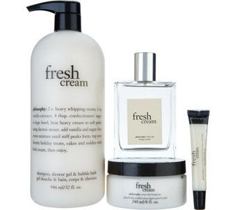 Philosophy Fresh Cream 4 Piece Layering Set Beauty Beautista Cosmetics Makeup Maquillage Beaute Mak Philosophy Fresh Cream Fresh Cream Tanning Mousse