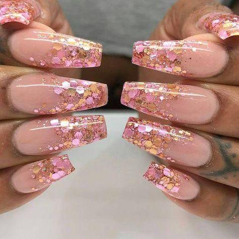 "30 Wonderful Pink Acrylic Nails. ""Shirley Temple"" Nail Design"
