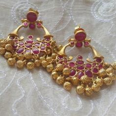 Ethnic baalis Handcrafted in with semiprecious kemp stones and ghungroo latkans