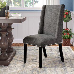 Latitude Run Meserve Diamond Pattern Upholstered Dining Chair