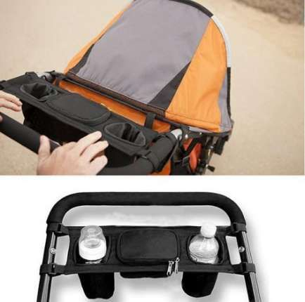 Universal Baby Trolley Storage Bag Stroller Cup Carriage Pram Buggy Organizer D7