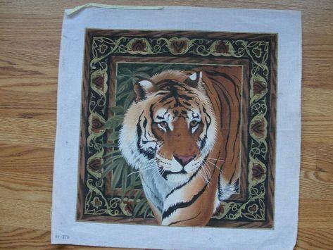 Geometrique Tigre SEG de Paris Tapestry//Needlepoint Canvas Geometric Tiger