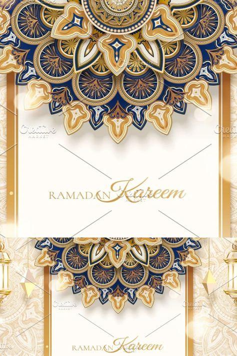 3d arabesque banner template