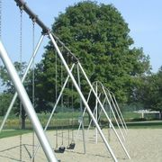 "Just like the playground equipment from school days, you too can build a sturdy and long-lasting galvanized swing set. Requiring very few tools and a simple parts list, putting together the swing set is just a matter of threading 2"" galvanized pipe into different fittings and securing the entire assembly solidly in the ground. You will also..."