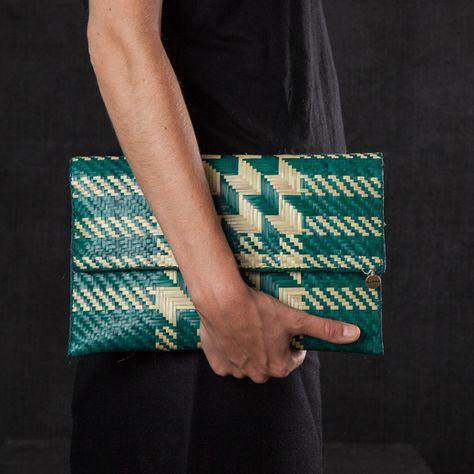 Darkroom Fold Over Clutch Medium - Green