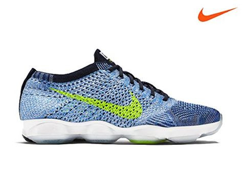 Nike Women's Wmns Flyknit Zoom Agility, BLUE GLOW/VOLT-COLLEGE NAVY-WHITE,  6 US | Nike Shoes For Women | Pinterest | Nike shoe, Navy and Woman