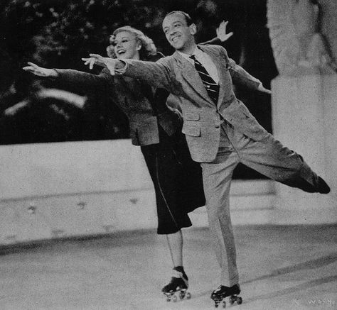 Shall We Dance 1937 Ginger Rogers And Fred Astaire Roller Skate Tap Dance Fred And Ginger Partner Dance Fred Astaire