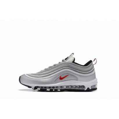 nike baskets air max chaussures homme gris blanc