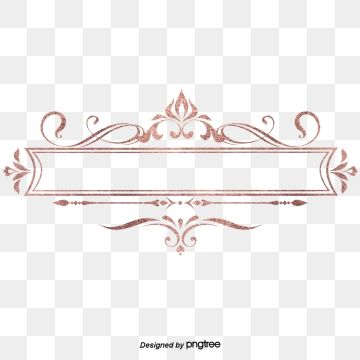 European Rose Gold Valentines Day Retro Delicate Border Decorative Elements Originality Restoring Ancient Ways Material Png Transparent Clipart Image And Psd Bunga Stiker Png