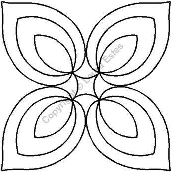 Quilting Creations Hyacinth Block Cut Shape Stencil 6