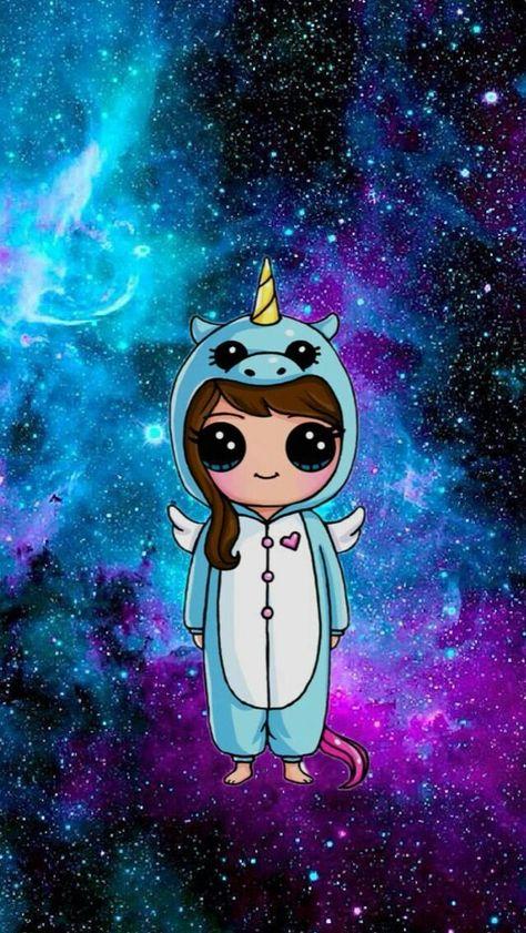 En el espasio pero con piyama de unicornio eso lo es todo amigos siganme soy nueva
