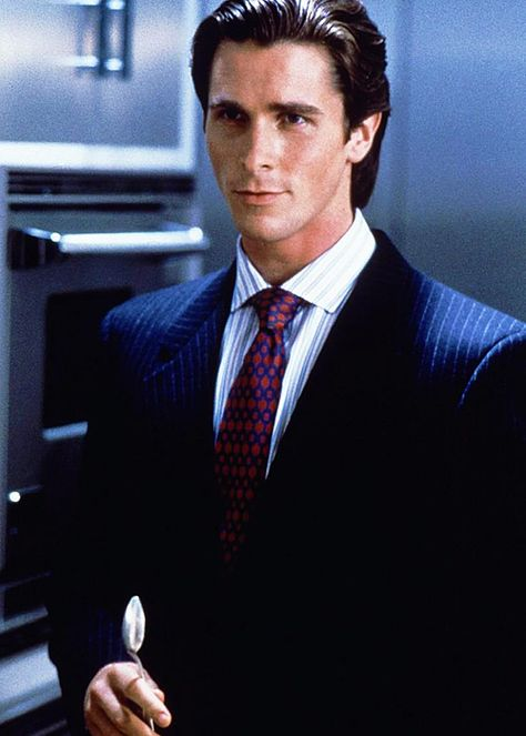 Christian Bale in American Psycho. Yes he's completely crazy in the film, but DAMN.