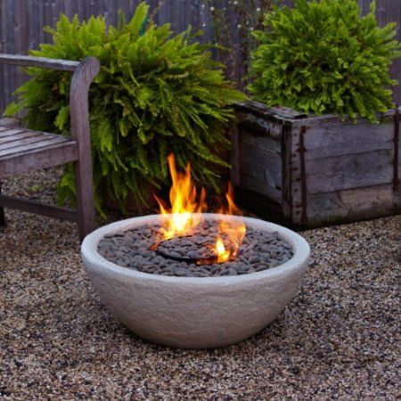 Amazon.com : Real Flame Hampton Fire Bowl, Gray : Tabletop Fire Pit :  Patio, Lawn U0026 Garden | Cali Backyard Getaway | Pinterest | Fire Bowls, Fire  Pit Patio ...